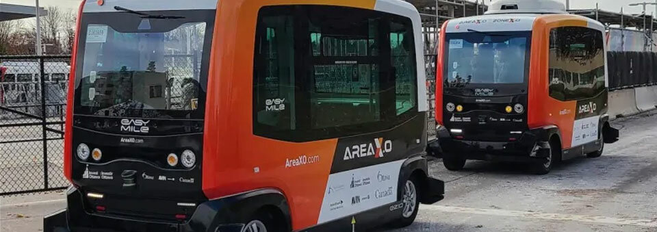 Driverless shuttle takes road test at Tunney's Pasture