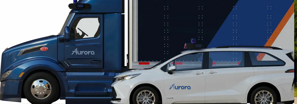 Aurora's autonomous trucks and taxis will be available to customers via subscription